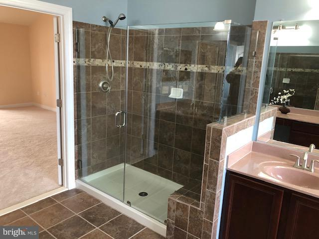 Master Bathroom NEW frameless glass shower doors! - 16585 SPACE MORE CIR, WOODBRIDGE