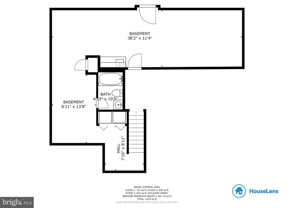 Lower level floor plan - 100 TATHER DR, MARTINSBURG