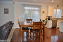 BREAKFAST ROOM  WITH WALK OUT TO REAR DECK - 15106 ADDISON LN, WOODBRIDGE