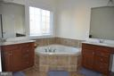 MASTER BATH WITH SEPARATE  SINK VANITIES - 15106 ADDISON LN, WOODBRIDGE