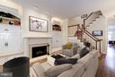 Living Room with built-ins and gas fireplace - 1309 22ND ST NW, WASHINGTON
