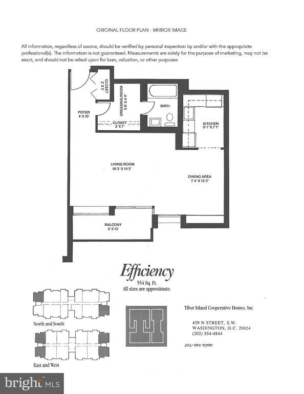 Floor plan provided by coop - 490 M ST SW #W208, WASHINGTON