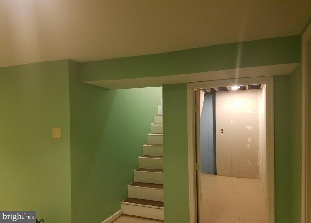 Basement Stairway - 9203 ALCONA ST, LANHAM