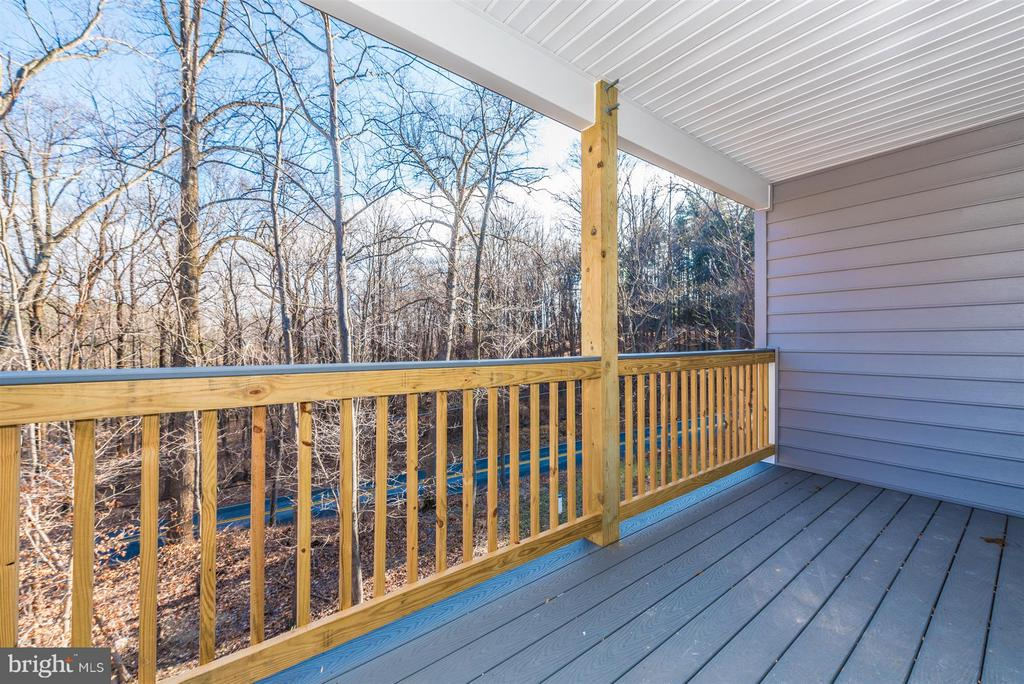 Balcony of master - 7800 OLD RECEIVER RD, FREDERICK