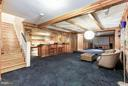 Expansive rec room with bar and media area - 1001 MURPHY DR, GREAT FALLS