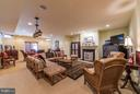 Recreation Room with fireplace - 21813 AINSLEY CT, BROADLANDS