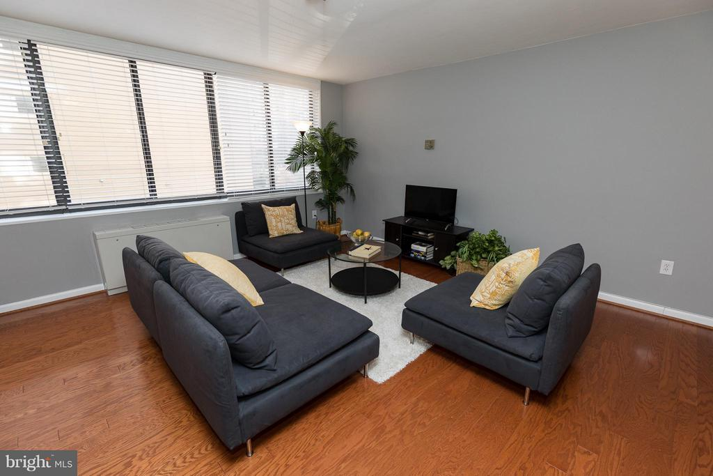 Plenty of room for relaxing by the TV - 2030 F ST NW #201, WASHINGTON
