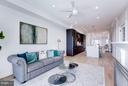 First Floor Family Space around Gas Fireplace - 2817 13TH ST NW #2, WASHINGTON