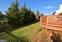 Lots of privacy in backyard with trees - 21327 FULTONHAM CIR, ASHBURN