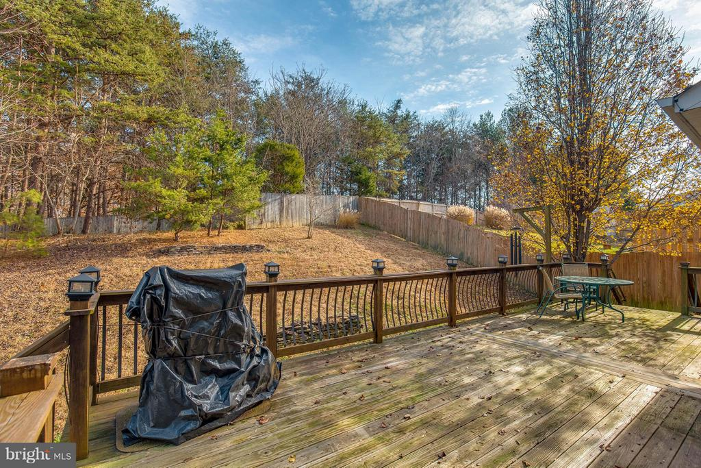 Backyard backs up to forest - 15333 TINA LN, WOODBRIDGE