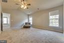 Master bedroom with cathedral ceiling - 15333 TINA LN, WOODBRIDGE