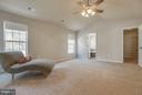 Master Bedroom with ceiling fan and natural light - 15333 TINA LN, WOODBRIDGE