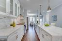 Gourmet Kitchen with large Island - 621 LONGFELLOW ST NW, WASHINGTON