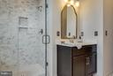 Frame-less shower with built in shelves - 1456 TRAFALGAR LN, FREDERICK