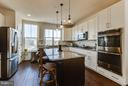 Island allows for seating and prep space - 1456 TRAFALGAR LN, FREDERICK