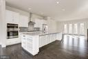 Soho Kitchen with Center Island - 42502 MILDRED LANDING SQ, ASHBURN