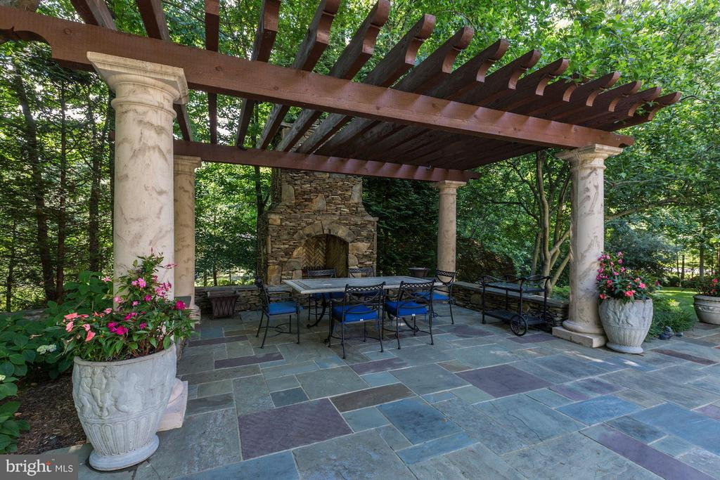 Gazebo with Fireplace - 10015 HIGH HILL PL, GREAT FALLS