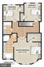 Floor plan: Bedroom level - 2203 N 19TH CT, ARLINGTON