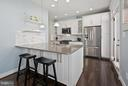 Breakfast bar for easy dining, casual entertaining - 2203 N 19TH CT, ARLINGTON
