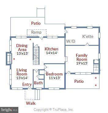 Main Level Floorplan - 17945 BOWIE MILL RD, ROCKVILLE