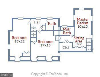 2nd Floor Floorplan - 17945 BOWIE MILL RD, ROCKVILLE