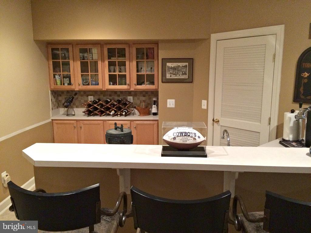 Basement wet bar with dishwasher, sink, frig - 42596 IRON BIT PL, CHANTILLY