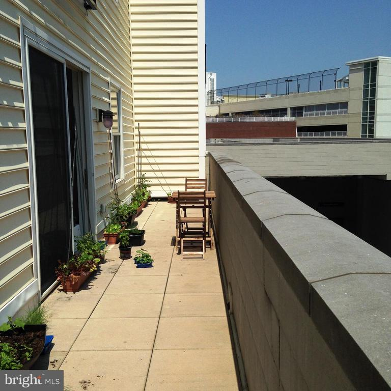 Very large private balcony off of living room - 38 MARYLAND AVE #214, ROCKVILLE