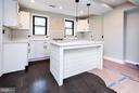 Kitchen boasts New White Shaker style cabinets - 5222 HAYES ST NE, WASHINGTON