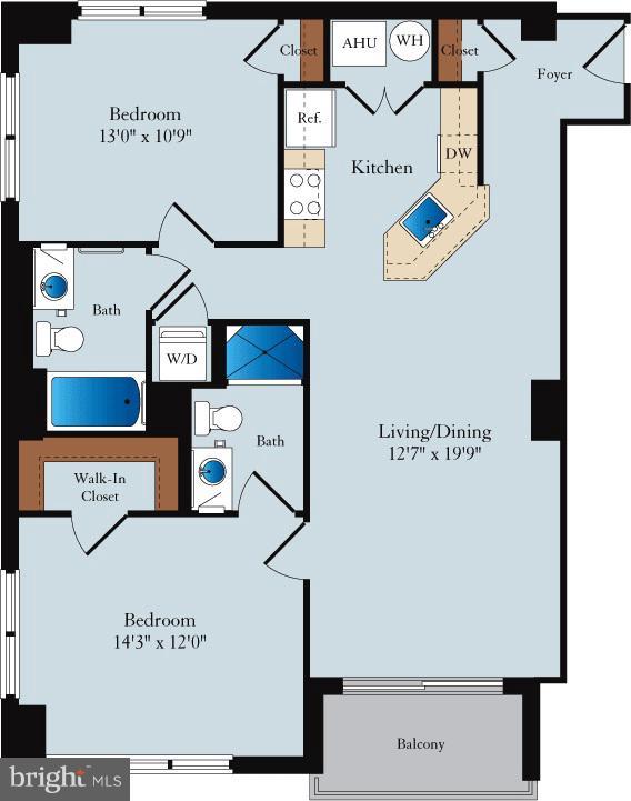 Floor Plan - 1020 N HIGHLAND ST #601, ARLINGTON