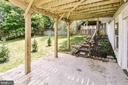 Concrete patio under deck - 5591 HOBSONS CHOICE LOOP, MANASSAS