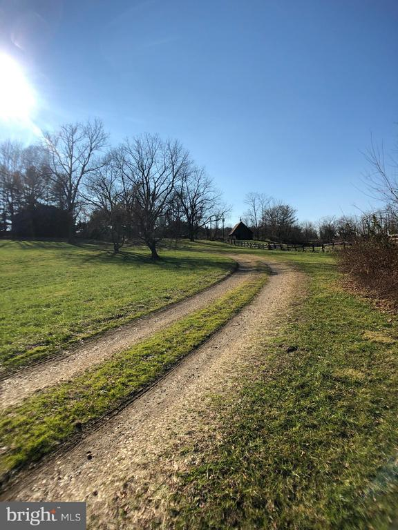 View of drivway - 18483 SILCOTT SPRINGS RD, PURCELLVILLE