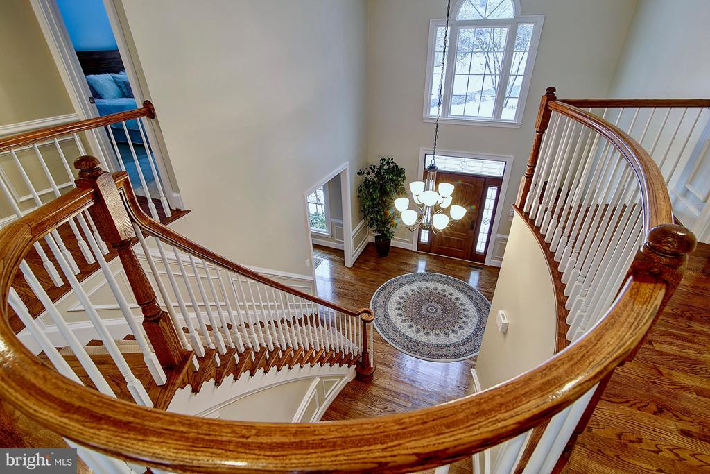Foyer view from upper level - 1298 STAMFORD WAY, RESTON