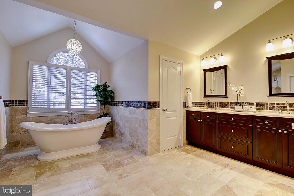 Luxurious remodeled master bath-2017 - 1298 STAMFORD WAY, RESTON