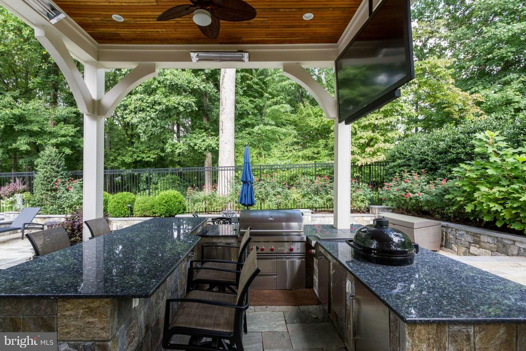 Outdoor Pavilion with Cooking and TV - 8518 WEDDERBURN STATION DR, VIENNA