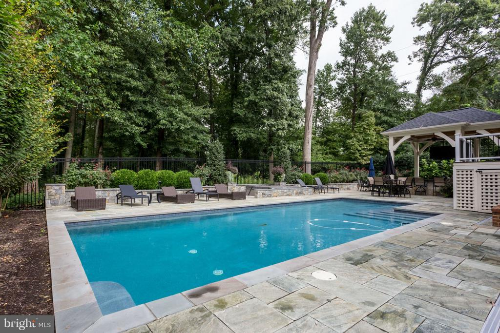 Private Rear Yard with Pool and Pavilion - 8518 WEDDERBURN STATION DR, VIENNA
