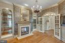 Library with Built In and Fireplace - 8518 WEDDERBURN STATION DR, VIENNA