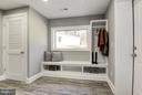 Mudroom with Built-ins - 7821 FORT HUNT RD, ALEXANDRIA