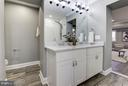 Raised Vanity with Carrara Marble Counter and 2 Si - 7821 FORT HUNT RD, ALEXANDRIA