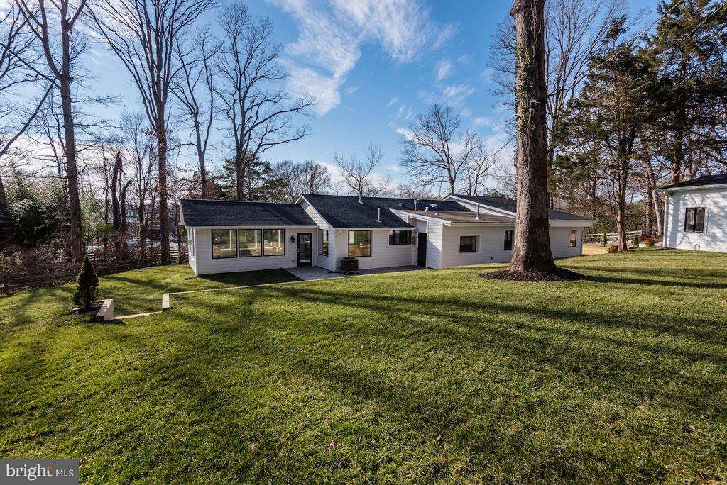 Newly Sodded Lawn and New Landscaping - 7821 FORT HUNT RD, ALEXANDRIA