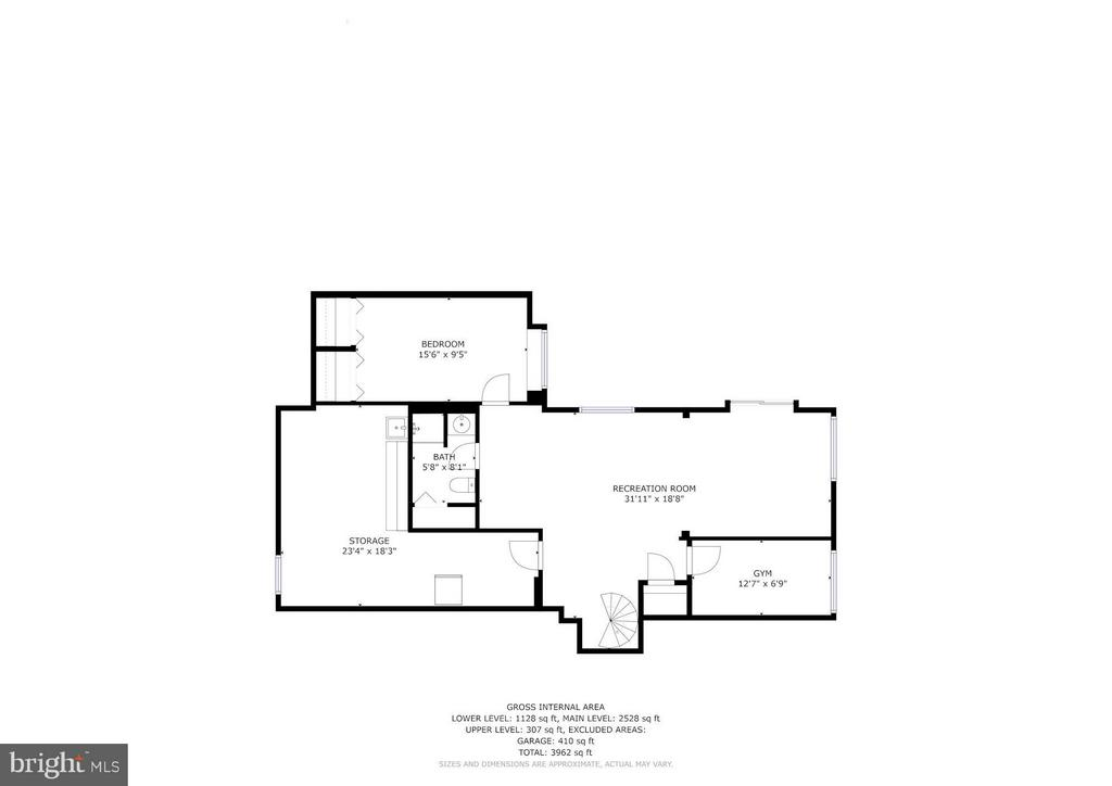 Floorplan Lower Level - 39434 SNICKERSVILLE TPKE, MIDDLEBURG