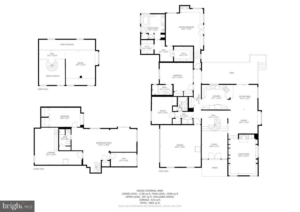 Floorplan All 3 Levels - 39434 SNICKERSVILLE TPKE, MIDDLEBURG