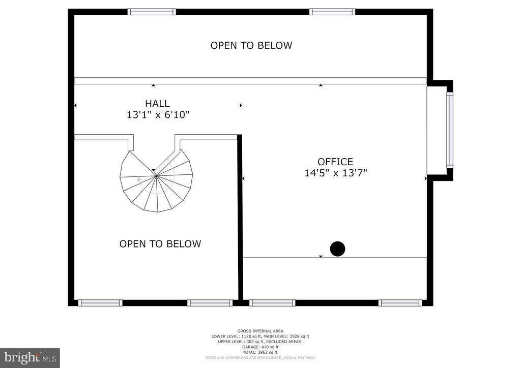 Floorplan Upper Level - 39434 SNICKERSVILLE TPKE, MIDDLEBURG