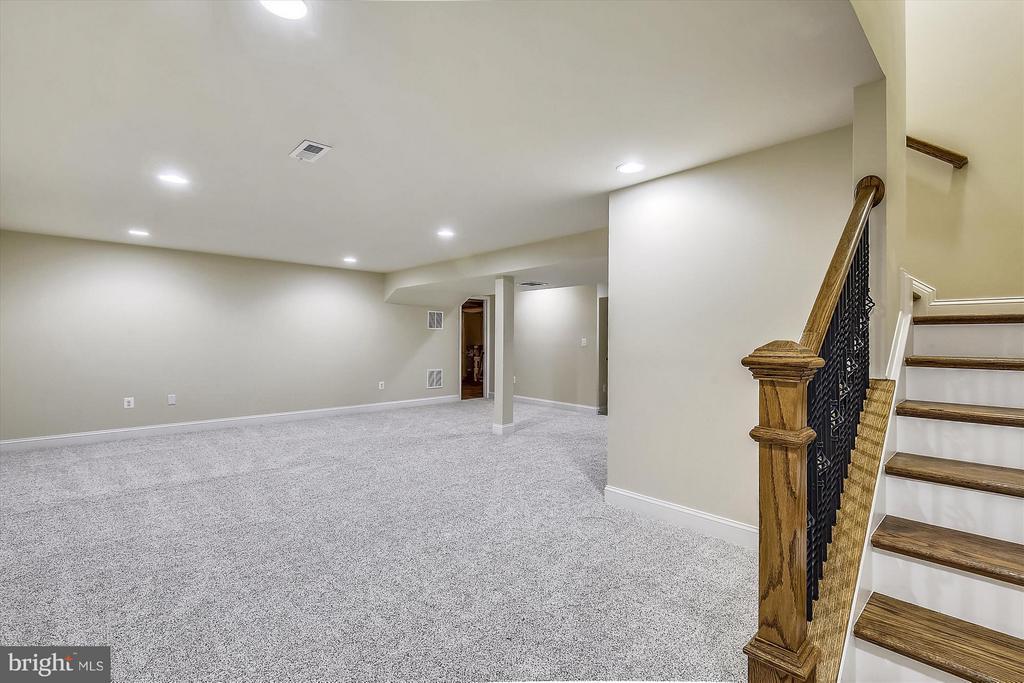 Lower level rec room - 12107 FAIRFAX HUNT RD, FAIRFAX