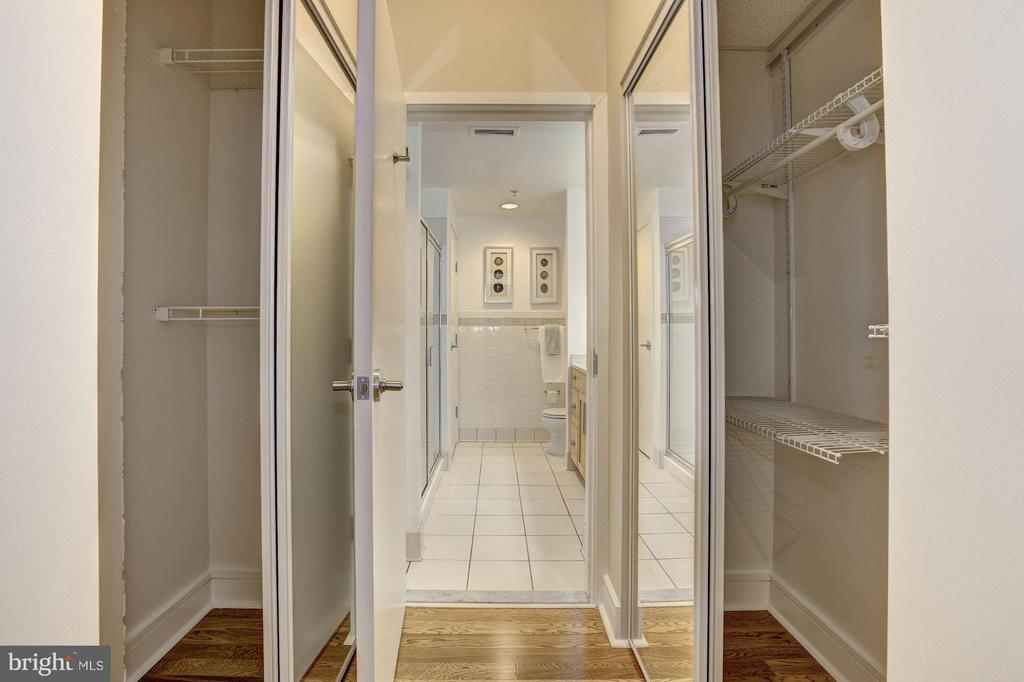 Owner's Bedroom w/ Custom Closets - 809 6TH ST NW #61, WASHINGTON