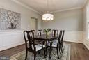 Detailed Molding in the Spacious Dining Room - 47479 SISLER CT, STERLING