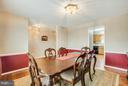Separate Formal Dining Room - 11016 LEAVELLS RD, FREDERICKSBURG
