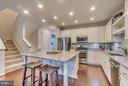Clean-lined Kitchen - 8957 DAHLGREN RIDGE RD, MANASSAS