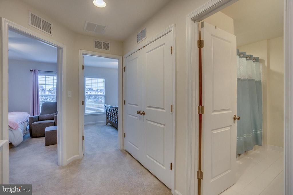 Upper Hallway and Laundry Closet - 8957 DAHLGREN RIDGE RD, MANASSAS
