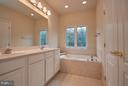 Master Bathroom with Separate Tub and Shower - 9738 CORBETT CIR, MANASSAS PARK