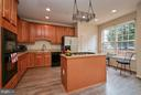 Kitchen with Island with New Gas Cooktop - 9738 CORBETT CIR, MANASSAS PARK